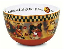 Retro Halloween Candy Bowl made by Bethany Lowe Designs