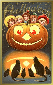 vintage halloween postcards - Antique Halloween Decorations