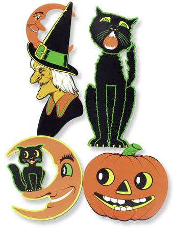 Beistle Retro Vintage Halloween Cutouts Reproduction